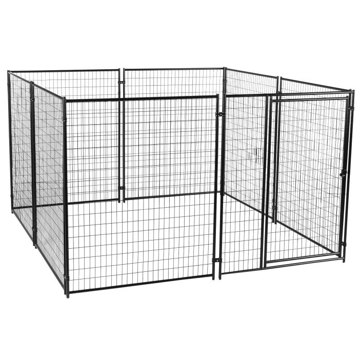 Lucky Dog® 10' x 10' Black Wire Kennel