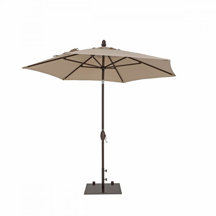 9' Garden Parasol w/ Push Button Tilt & Crank | True Shade