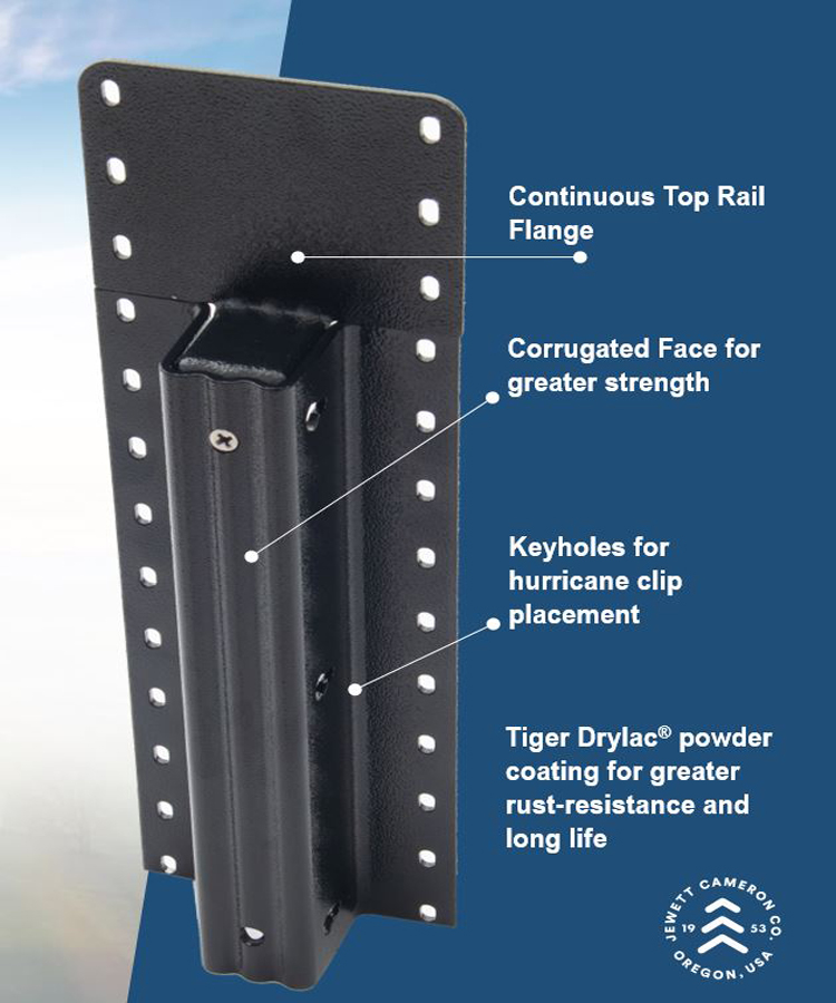 """Lifetime Steel Post™ - 7'6"""" Galvanized Post with Clear Powdercoat Finish"""